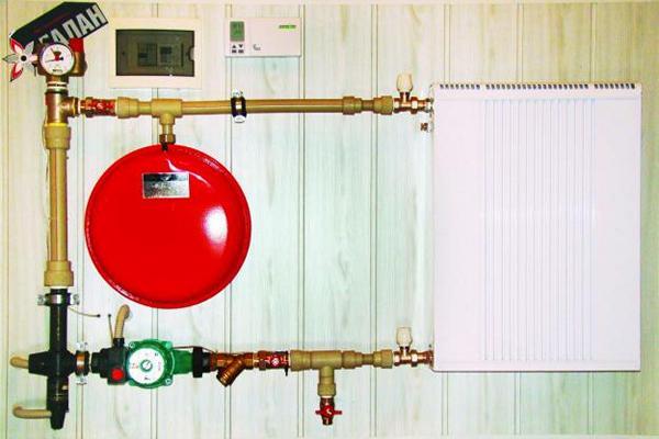 Принципиальная схема отопления с ионным котлом Галан Стеллс