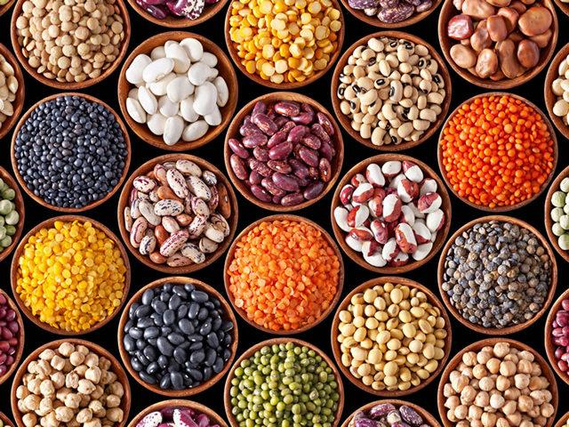 Тарелка здорового питания - бобовые